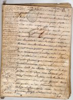 VP828 - PARIS 1767 - Acte Partage Suite Au Décès De E .G. De LA FOSSE Maréchal De La Petite écurie Du Roi à PARIS - Seals Of Generality