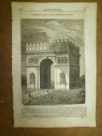 29 Mai 1834 MAGASIN UNIVERSEL : L´ Arc De Triomphe ; La Végétation Du Globe ;Cathédrale De Cantorbéry; - Kranten