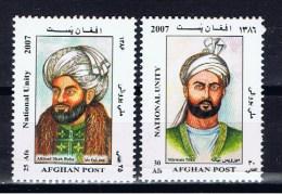 AFG+ Afghanistan 2007 Mi 2047-48 Mnh Persönlichkeiten - Afghanistan
