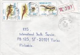 Senegal 1995 Kaolack RP Varan Pangolin Registered Cover - Senegal (1960-...)