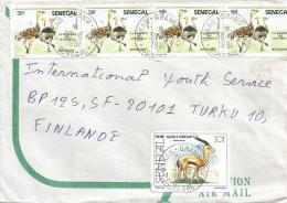 Senegal 1991 Dakar Grand Yoff Ostrich Gazelle Antilope  Cover - Senegal (1960-...)