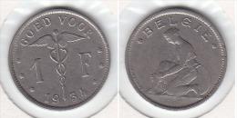 1 FRANC  Nickel  Albert I 1934 FL - 07. 1 Franco