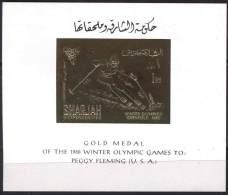SHARJAH - GRENOBLE - WINTER - GOLD - PEGGY FLEMING  U.S.A. - **MNH - 1968 - Winter 1968: Grenoble