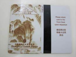 China Hotel Key Card,Shangri-La Golden Flower ,Xi'an - Tarjetas Telefónicas