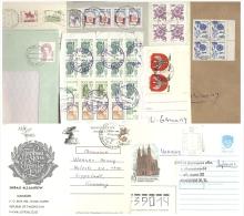Belege UdSSR: Ukraine Schmuckbriefe Tadzikistan Russland + Polen Von 1989 + Niederlande - Covers & Documents