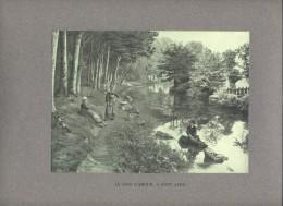 PONT AVEN - Le Bois D'Amour . Belle Illustration . Format Total : 36.5 X 27 Cm. - Other