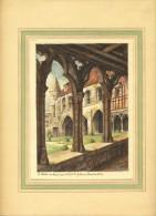 BEAUVAIS  .Le Cloître Et La Salle Du Chapitre.Très Beau Document. Format Total : 30 X 24.5 Cm. - Old Paper