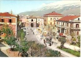 10/FG/13 - DISTRIBUTORE - SULMONA (L'AQUILA) - Piazza Porto Napoli Con Distributore (Gazoline AGIP) - L'Aquila