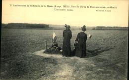 ANNIVERSAIRE DE LA BATAILLE DE LA MARNE DANS LA PLAINE DE NEUFMONTIERS LES MEAUX UNE TOMBE ISOLEE - Guerre 1914-18