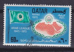 Qatar 1970 Mi. 410     60 D Arabische Liga Flag Flagge - Qatar