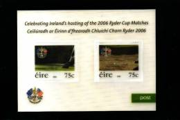 IRELAND/EIRE - 2006 CELEBRATING IRELAND'S HOSTING  RYDER CUP  MS MINT NH - Blocks & Sheetlets