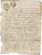 VP831 - SEYSSEL 1788 - Acte Héritage D´une Terre Issu Du Défunt F.PETROD - Seals Of Generality