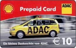 Germany - Allemagne - Shell ADAC Car -  Petrol Station - Carte Cadeau - Carta Regalo - Gift Card - Geschenkkarte - Frankreich