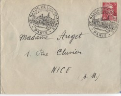 PARIS Enveloppe Avec Oblitération Illustrée (Grand Palais Et Voiture) 33ème Salon De L'automobile 3 Octobre 1946 - Timbres