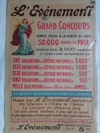 AFFICHE ORIGINALE- GUERRE 1914-1918- 1916 L� EVENEMENT JOURNAL QUOTIDIEN-GRAND CONCOURS