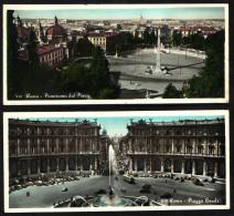ROMA - 1957 - AUTO E AUTOBUS - PINCIO E PIAZZA ESEDRA - FORMATO LUNGO - (VIAGGIATE IN OTTIMO STATO) - - Viste Panoramiche, Panorama
