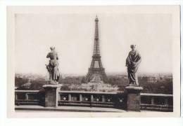 CPA - PARIS - La Tour Eiffel Vue Du Trocadéro - Yvon 76 Paris En Flanant - Tour Eiffel