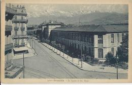 Grenoble  -  Le Lycée Et Les Alpes  - Carte Datée Du 12 Juin 1945 - Grenoble