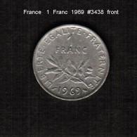 FRANCE    1  FRANC   1969  (KM # 925.1) - France