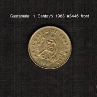 GUATAMALA    1  CENTAVO   1988  (KM # 275.2) - Guatemala