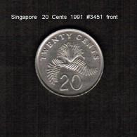 SINGAPORE    20  CENTS   1991  (KM # 52) - Singapore