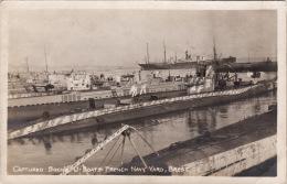 CP Photo 14-18 BREST - Sous-marin Allemand Capturés Par Les Français, Le Port (A51, Ww1, Wk1) - Brest