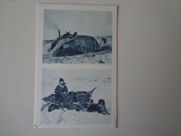 CPA ALASKA MAISON ESQUIMAU PAUSE DANS LE DÉSERT DE NEIGE CHIENS DE TRAINEAU - Postcards