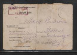 KRIEGSGEFANGENENPOST NAZI GERMANY THIRD REICH WW2 PRISONER OF WAR POW CAMP STALAG XIIF FORBACH TO KALISCH KALISZ POLAND - WW2 (II Guerra Mundial)