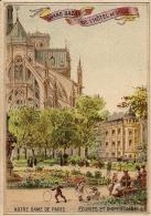 PARIS GRAND CHROMOS DU BAZAR DE L HOTEL DE VILLE NOTRE DAME DE PARIS ECURIES ET DISPENSAIRE TBE - Trade Cards