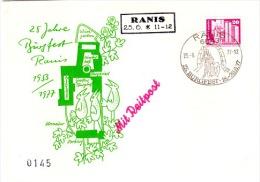 PHIL-L6 - ALLEMAGNE ORIENTALE Acheminement Du Courrier Par Messager à Cheval Burgfest RANIS Lettre + Carte - Poste