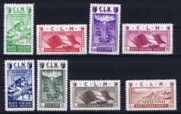 Italy 1944 Emissioni Locali,  Nr 9 - 16 MH/*  CLN - 4. 1944-45 Sozialrepublik