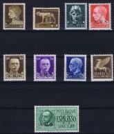 Italy CLS A.M.S./AMS Ammisistrazione Locale Socialista 1945, MH/* , Nr 1 - 9 - 4. 1944-45 Repubblica Sociale