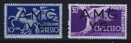 Italy  1946 AMG VG Democratica Espresso MH/* Nr 1 - 2 - 7. Triest