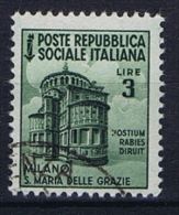 Italy  Rep. Soc. Mi 661 / Sa 511, Used - Gebraucht