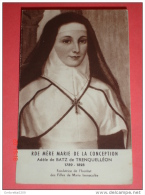 Venerabile MARIA Della CONCEZIONE Adele De Batz Trenquelléon,Nérac,Agen - FRANCIA Fondatrice - Vecchio Santino  Francese - Santini