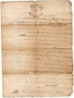 VP838 - TREZIOUX 1742 - Acte Contrat Entre Mrs .B. DUGNE Charpentier Et J. BOISSERET Peigneur De Chanvre - Seals Of Generality
