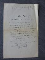 Jean WAHL, Philosophe, Let Autographe à Raymond Charmet ; Ref 076 - Autographes