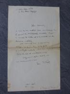 Jean WAHL, Philosophe, Let Autographe à Raymond Charmet ; Ref 078 - Autographes