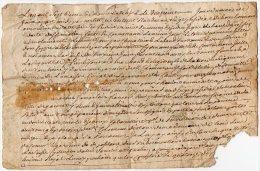 VP842 - SAINT / CLEMENT 1760 - Acte P.GOUNARD Régisseur De La Seigneurie Des Bouchains - Seals Of Generality