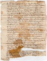 VP843 - SAINT / CLEMENT 1757 - Acte  Mr P. MARIDET  Contre  Mr G. REGNIER - Seals Of Generality