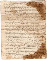 VP844 - SAINT / CLEMENT 1761 - Acte Mr J.BRUNET D ' EVRY  Maitre De Camps Chevalier Seigneur De Bouchaux , La Presle - Cachets Généralité