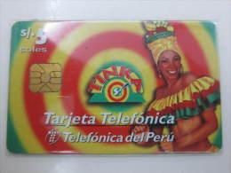 Peru Chip Phonecard,Tinka,used - Peru