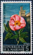 SAN MARINO 1967 5Lira Flowers Mint No Gum - San Marino