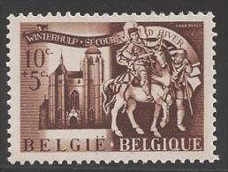 1943 10c+5c Church, Mint Never Hinged - Belgium