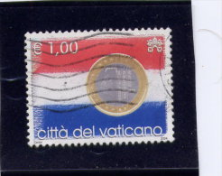 VATICAN,  2004 USED, Scott  # 1280 , Flags & One-Euro Coins: Netherlands     USED - Vatican