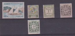 MONACO    // Lot De 5 Timbres Taxe - Collections, Lots & Series