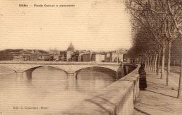 [DC6675] ROMA - PONTE CAVOUR E PANORAMA - Viaggiata - Old Postcard - Ponts