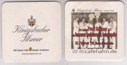 Königsbacher Brauerei Koblenz Pilsener , Cafe Hahn 2008 , Fred Kellner - Beer Mats