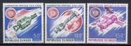 Niger 1975 Space, Apollo-Soyuz Set Of 3 MNH - Space