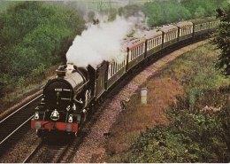 Railway Photo Card GWR 6000 GWR King George V Bullmers Train 1971 4-6-0 Loco - Picture Cards